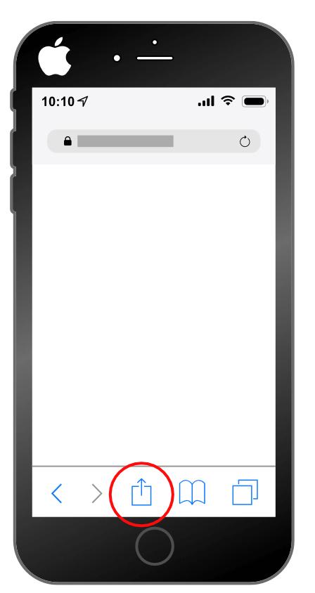 Intallation d'une progressive web app sur Iphone : étape 1