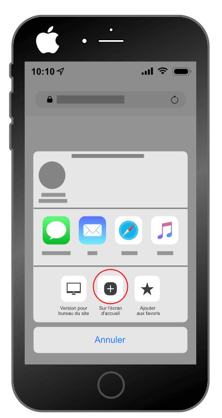 Intallation d'une progressive web app sur Iphone : étape 2