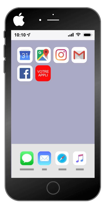 Intallation d'une progressive web app sur Iphone : étape 4