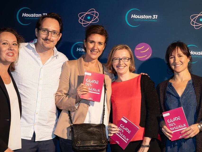Ambition-web, présent à la soirée de lancement d'Houston 31