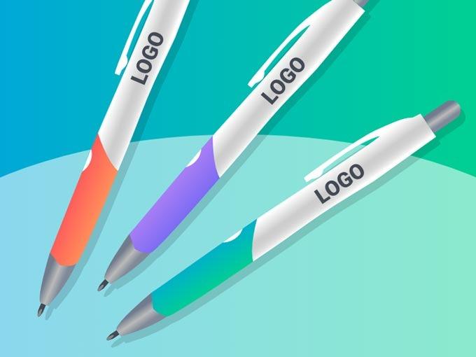 100 stylos gravés à LED avec votre logo